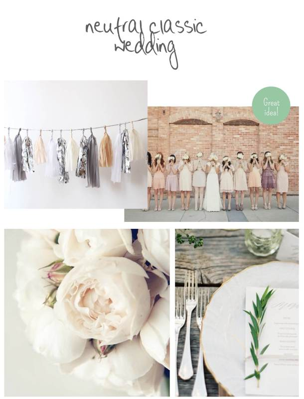 Neutral classic wedding one